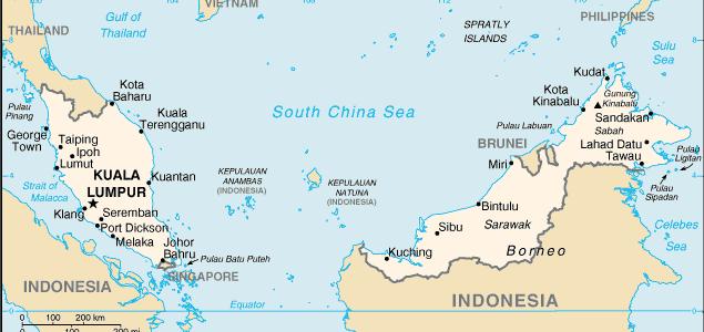 malaysia_landkaart